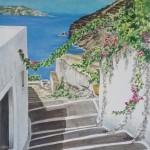 #6 Meredith Janssen-Stairway in Santorini